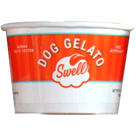Swell Gelato Pumpkin Cheddar Dog Treats, 4-oz