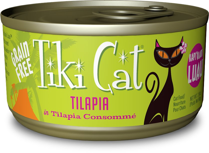 Tiki Cat Kapi'Olani Luau Tilapia in Tilapia Consomme Grain-Free Canned Cat Food, 2.8-oz