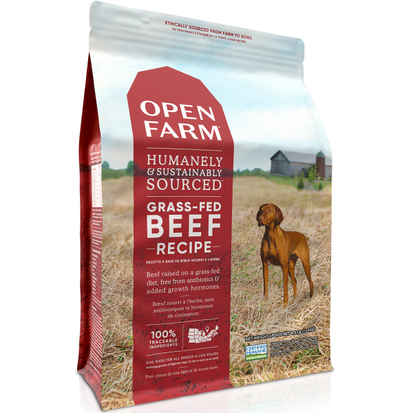 Open Farm Grass-Fed Beef Recipe Grain Free Dry Dog Food