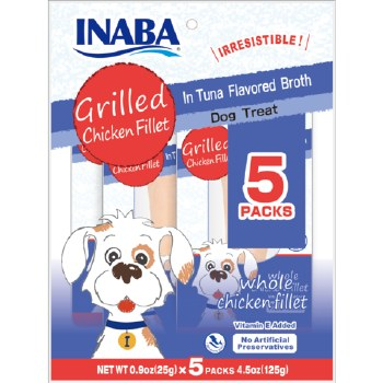 Inaba Grilled Chicken Fillet in Tuna Flavored Broth Dog Treats
