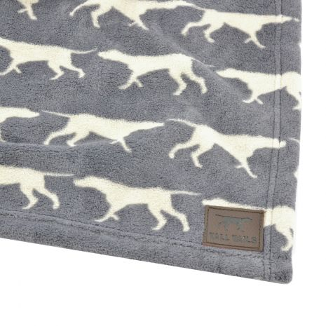 Tall Tails Grey Icon Fleece Dog Blanket, 20 x 30