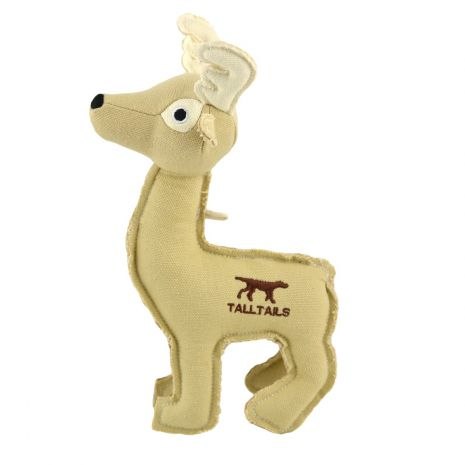 Tall Tails Deer Canvas Dog Squeaker Toy, 9in