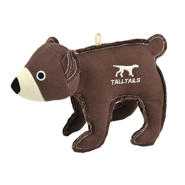 Tall Tails Bear Canvas Dog Squeaker Toy