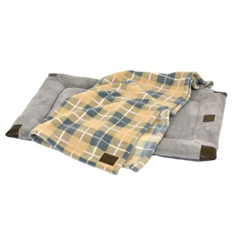 Tall Tails Dog Bed & Blanket Set, Tan, Large