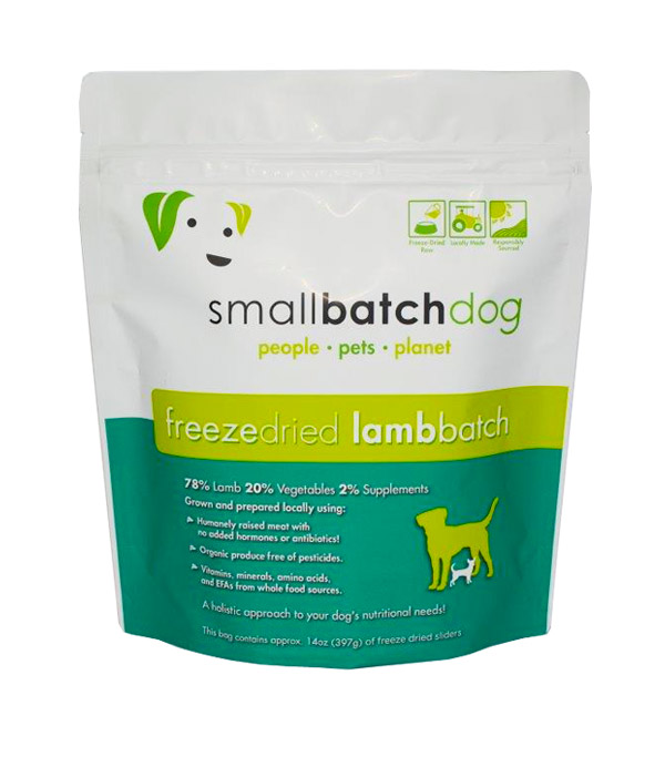 Small Batch Dog Lamb Recipe Sliders Freeze-Dried Dog Food, 14-oz