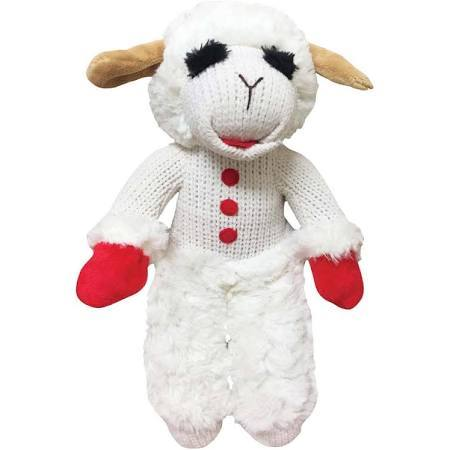 Multipet Standing Lamb Chop Dog Toy, 13in