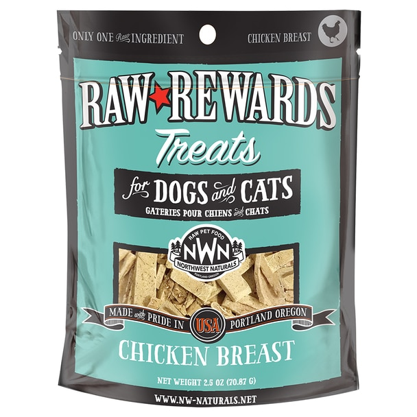 Northwest Naturals Raw Rewards Chicken Breast Freeze Dried Dog & Cat Treats, 3-oz