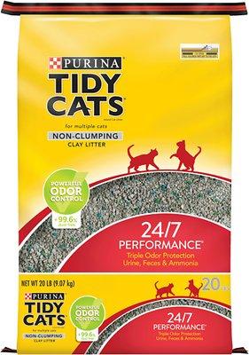 Tidy Cats Non-Clumping 24/7 Performance Long Lasting Odor Control Cat Litter, 20-lb bag