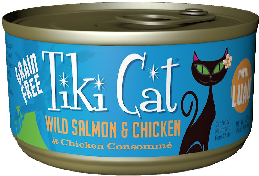 Tiki Cat Napili Luau Wild Salmon & Chicken in Chicken Consomme Grain-Free Canned Cat Food, 6-oz