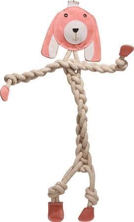 Hugglehounds Rope Knotties Bunny Dog Toy