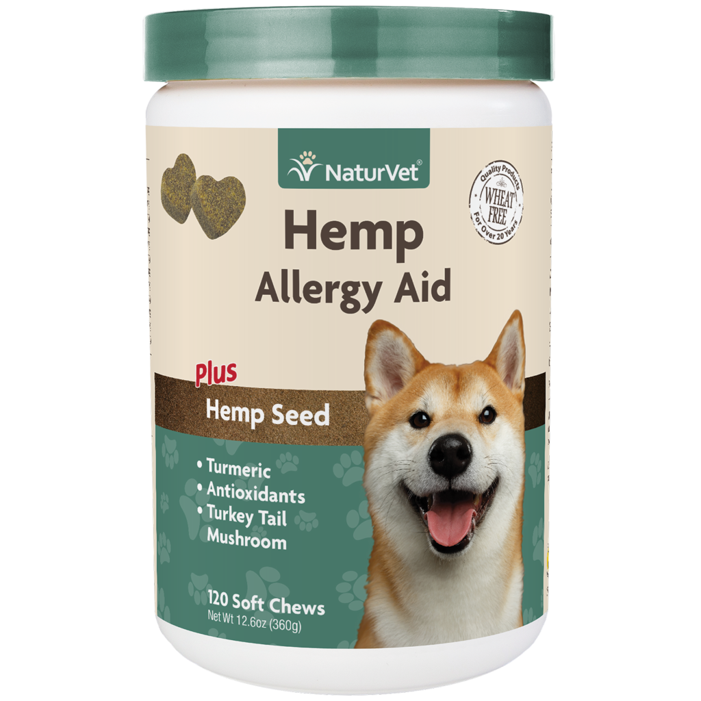 Naturvet Allergy Aid Jar Soft Dog Chew, 120-ct