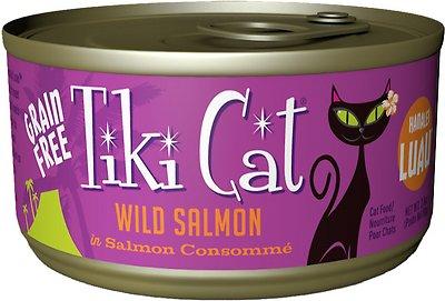 Tiki Cat Hanalei Luau Wild Salmon in Salmon Consomme Grain-Free Canned Cat Food, 2.8-oz, case of 12