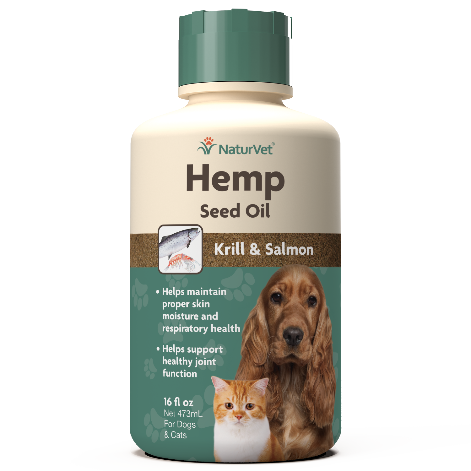 Naturvet Seed Oil With Krill & Salmon, 16-oz