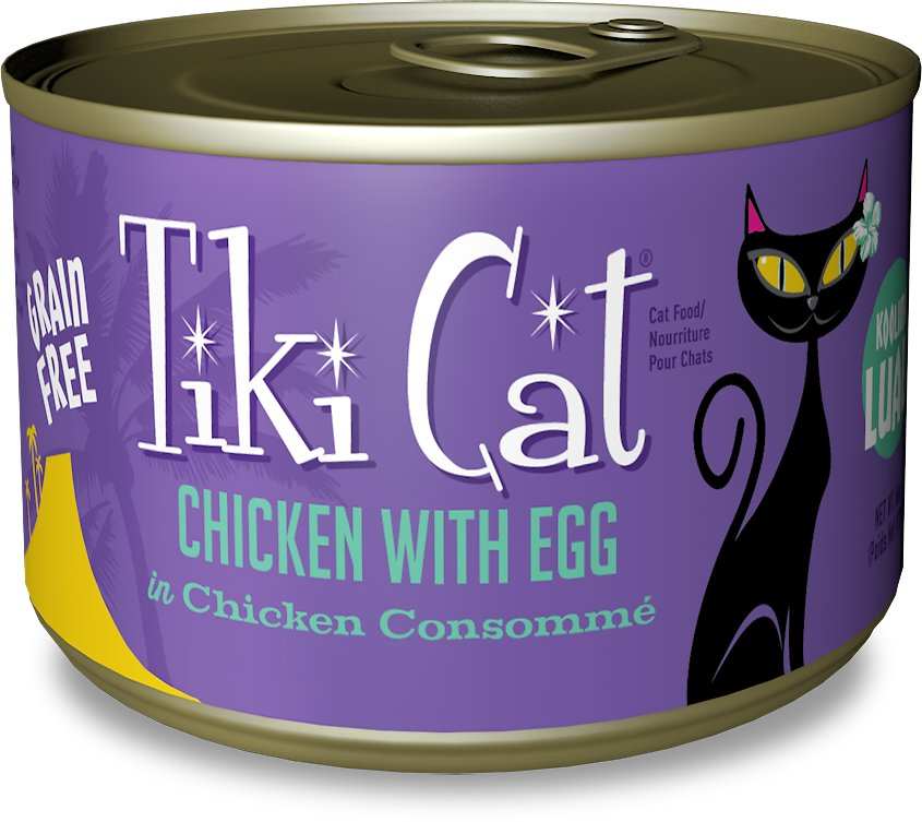 Tiki Cat Koolina Luau Chicken with Egg in Chicken Consomme Grain-Free Canned Cat Food, 6-oz