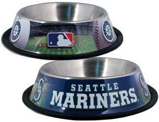 Doggienation-Mlb - Seattle Mariners Dog Bowl - Stainless - One Size