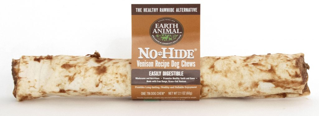 Earth Animal No-Hide Venison Chew Dog Treat, 7-in