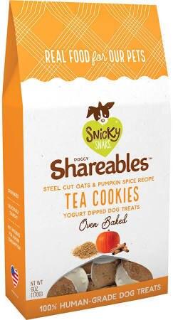 Snicky Snaks Dog Shareables Oats & Pumpkin Tea Cookies