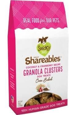 Snicky Snaks Dog Shareables Coconut & Cranberry Granola Clusters