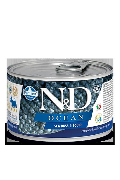 Farmina Natural & Delicious Ocean Sea Bass & Squid Wet Dog Food, 4.9-oz