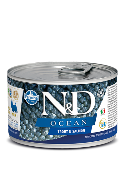 Farmina Natural & Delicious Ocean Trout & Salmon Wet Dog Food, 4.9-oz