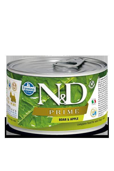 Farmina Natural & Delicious Prime Boar & Apple Dog Can, 10-oz