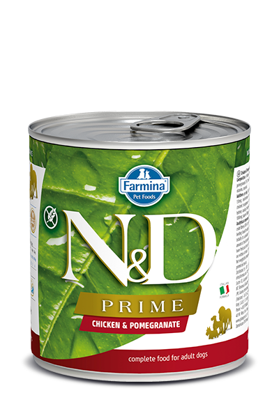 Farmina Natural & Delicious Prime Chicken & Pomegranate Wet Dog Food, 10-oz