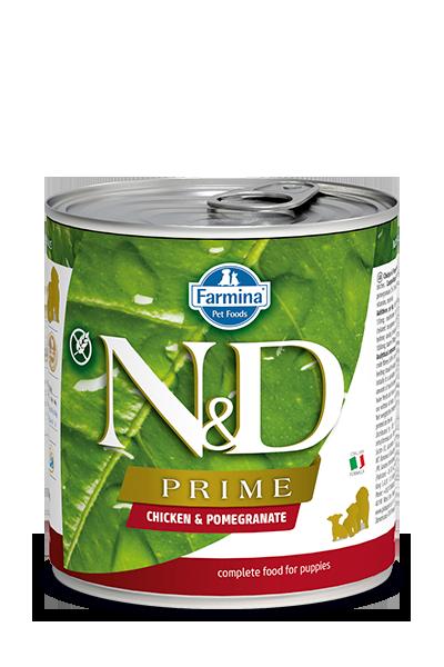 Farmina Natural & Delicious Prime Puppy Chicken & Pomegranate Wet Dog Food, 10-oz