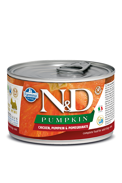 Farmina Natural & Delicious Pumpkin, Chicken & Pomegranate Wet Dog Food, 4.9-oz