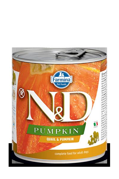 Farmina Natural & Delicious Pumpkin, Quail & Pomegranate Wet Dog Food, 10-oz