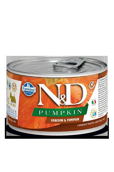 Farmina Natural & Delicious Pumpkin, Venison & Apple Wet Dog Food, 4.9-oz
