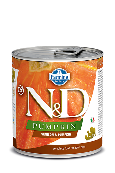 Farmina Natural & Delicious Pumpkin, Venison & Apple Wet Dog Food, 10-oz