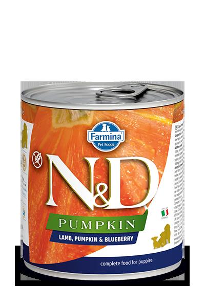 Farmina Natural & Delicious Puppy Pumpkin, Lamb & Blueberry Wet Dog Food, 10-oz