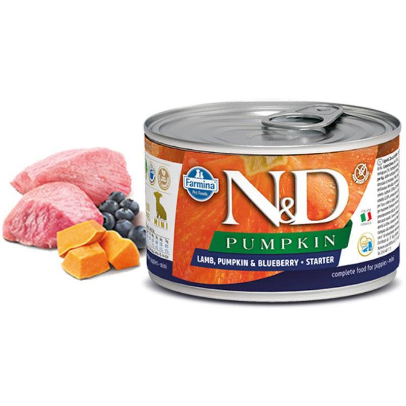 Farmina Natural & Delicious Puppy Starter Pumpkin, Lamb & Blueberry Wet Dog Food, 4.9-oz