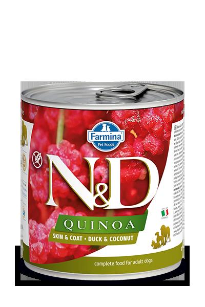 Farmina Natural & Delicious Quinoa Skin & Coat Duck & Coconut Wet Dog Food, 10-oz