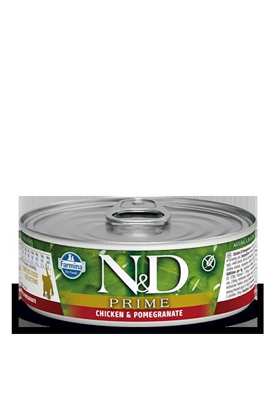Farmina Natural & Delicious Prime Kitten Chicken & Pomegranate Cat Can, 2.8-oz