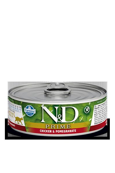Farmina Natural & Delicious Prime Chicken & Pomegranate Cat Can, 2.8-oz