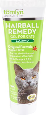 Tomlyn Laxatone Hairball Remedy Maple Flavor Gel Cat Supplement