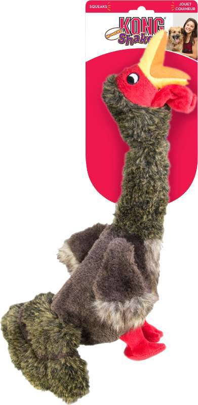 Kong Shakers Honkers Turkey Dog Toy, Small