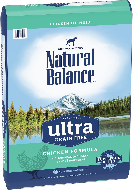 Natural Balance Original Ultra Grain-Free Chicken Formula Dry Dog Food, 24-lbs