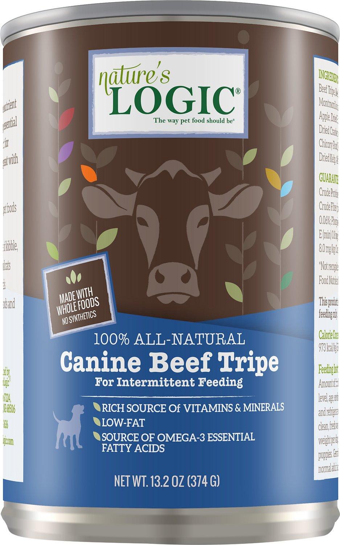 Nature's Logic Canine Beef Tripe Grain-Free Canned Dog Food, 13.2-oz