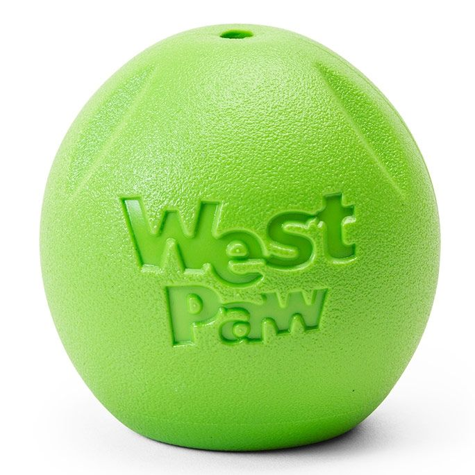 West Paw Rando Ball Dog Toy, Jungle Green, Large, 3.5-in