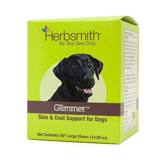 Herbsmith Glimmer Skin Supplement Chews For Dogs, Small, 30-count