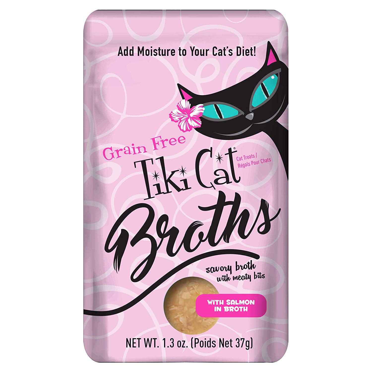 Tiki Cat Broths Salmon in Broth Wet Cat Food, 1.3-oz pouch