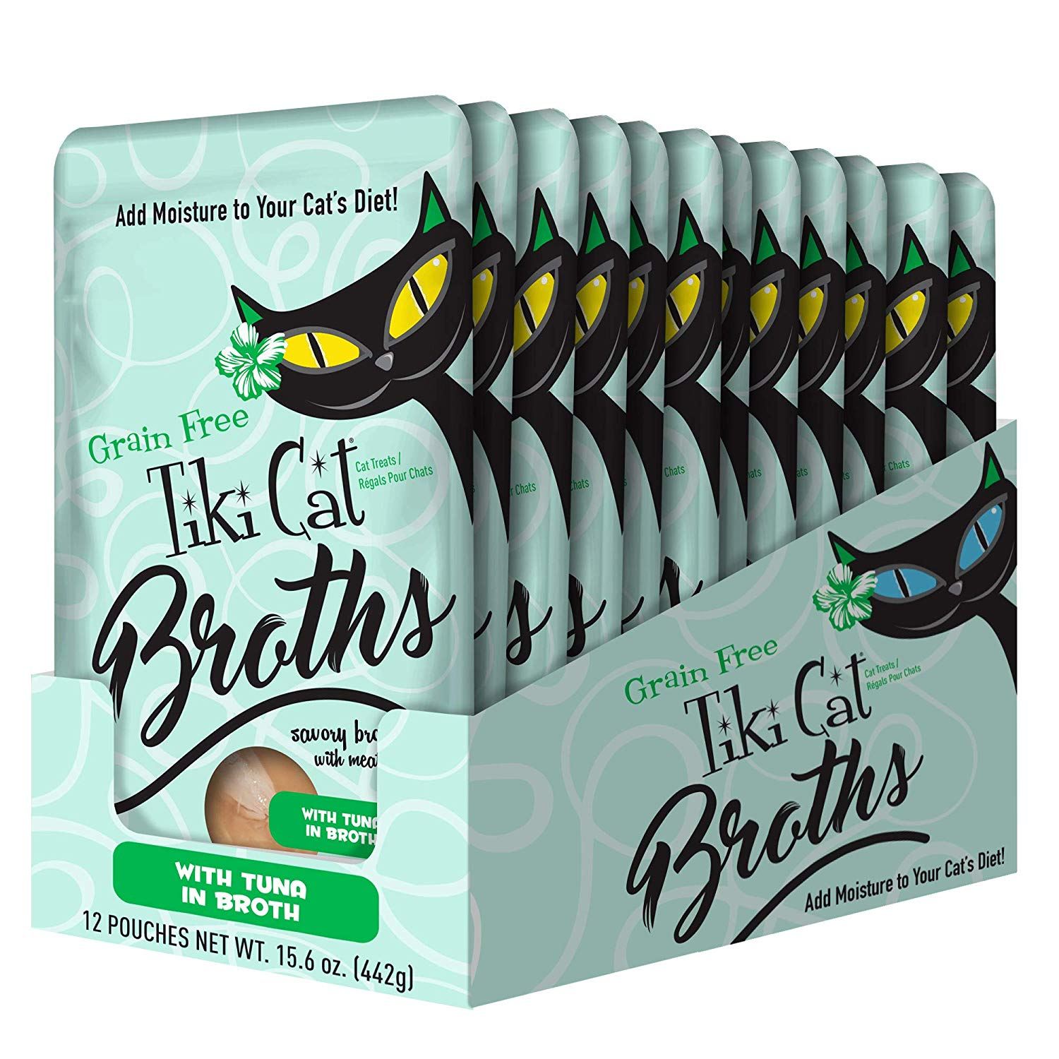 Tiki Cat Broths Tuna in Broth Wet Cat Food, 1.3-oz pouch, case of 12