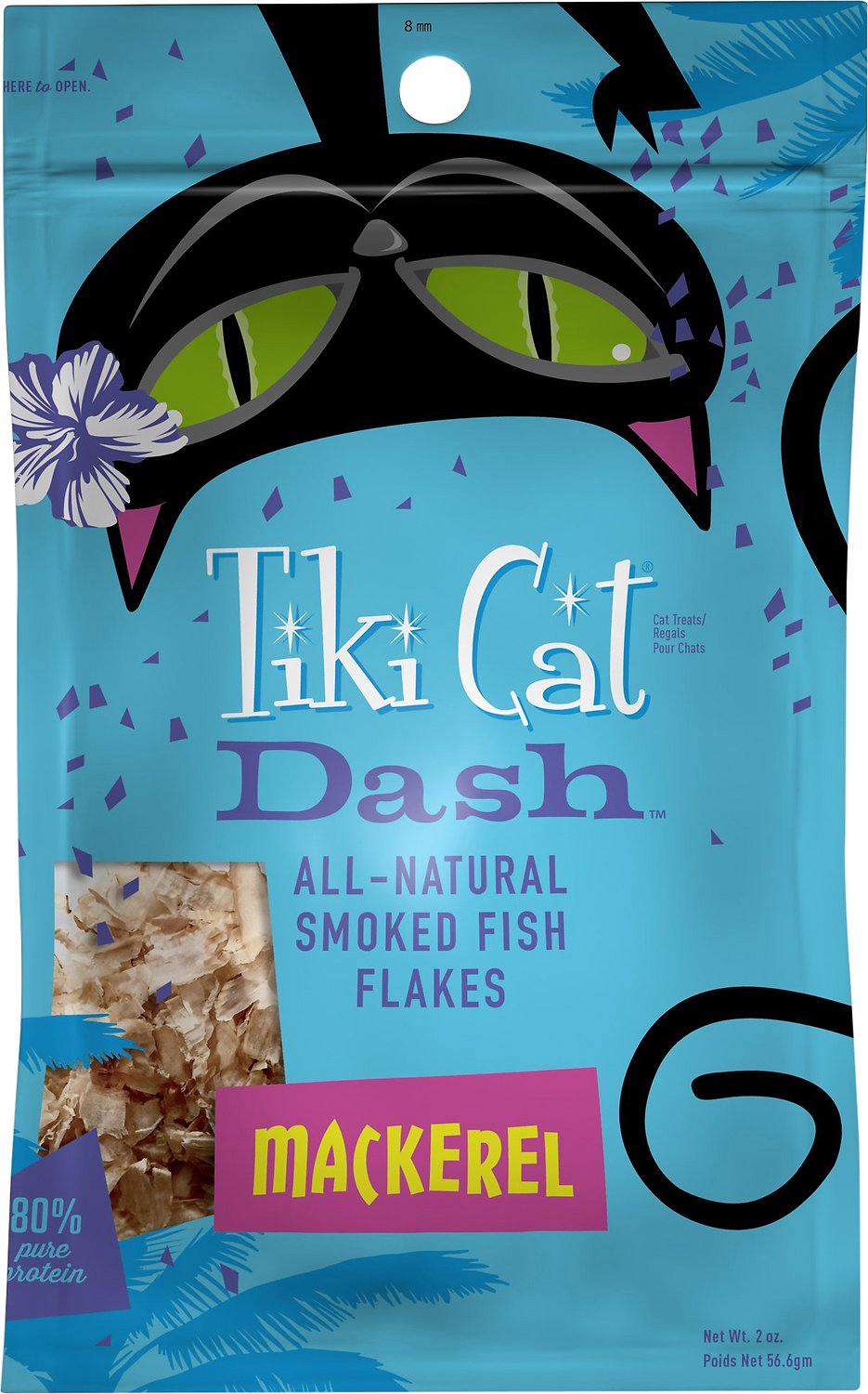 Tiki Cat Dash Mackerel Flakes Cat Food Topper, 2-oz pouch
