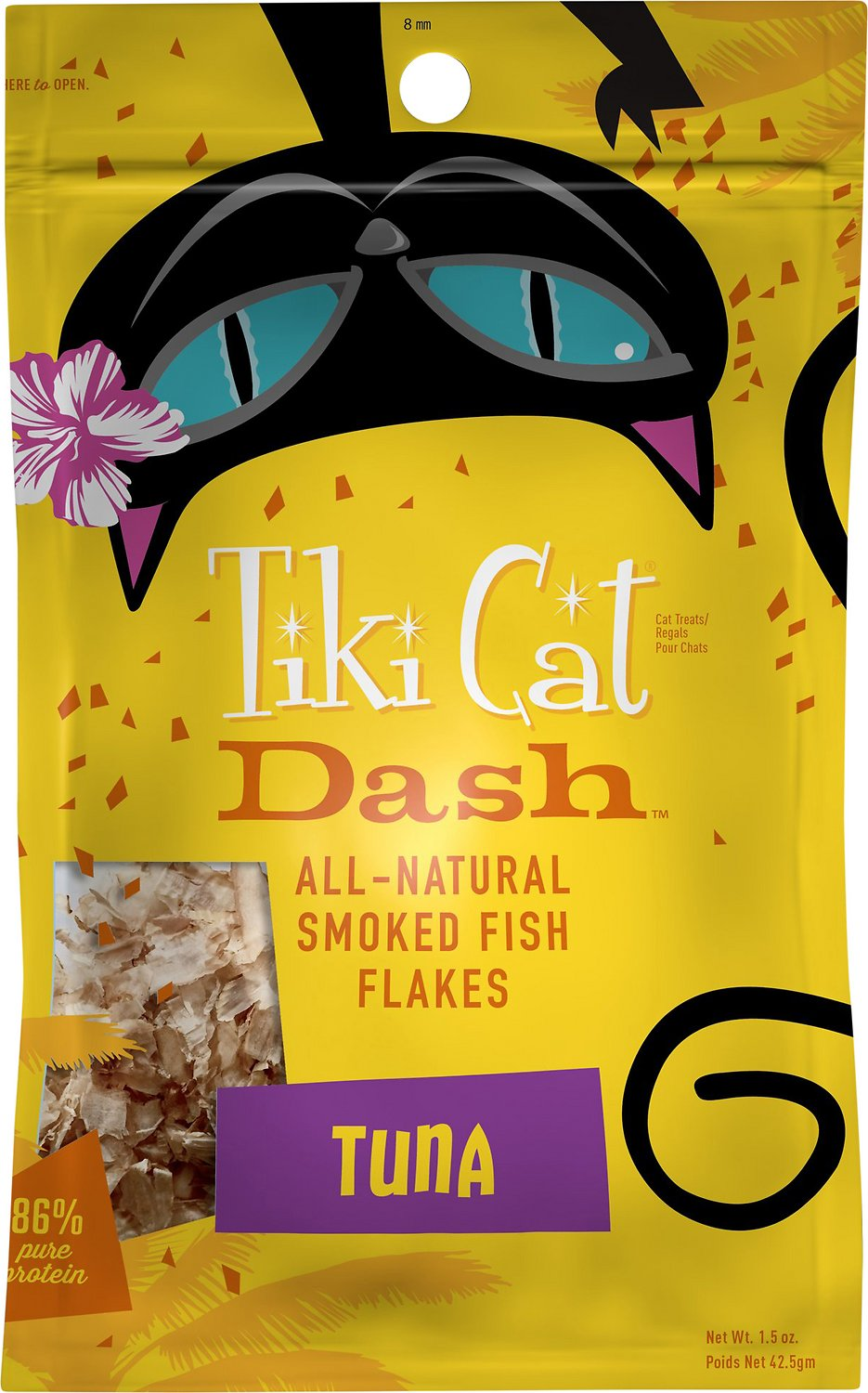 Tiki Cat Dash Tuna Flakes Cat Food Topper, 1.5-oz pouch