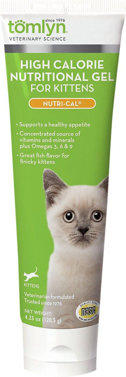 Tomlyn Nutri-Cal High-Calorie Dietary Kitten Supplement, 4.25-oz tube