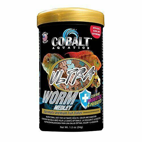 Cobalt Aquatics Ultra Worm Medley Fish Food