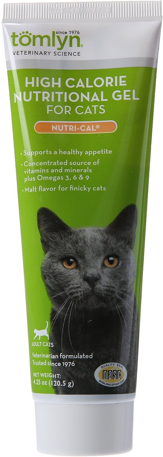 Tomlyn Nutri-Cal High-Calorie Dietary Cat Supplement, 4.25-oz tube Image
