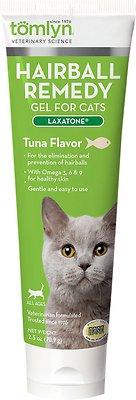 Tomlyn Laxatone Hairball Remedy Tuna Flavor Gel Cat Supplement